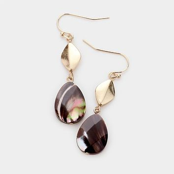 Gem Stone Dangle Earrings