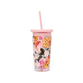 ban.do sip sip tumbler with straw - garden party