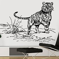 Wall Decal Tiger Vermin Hunting Vinyl Sticker Decals Predator Animals Home Decor Bedroom Art Design Interior NS881