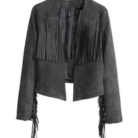 Jacket with Fringe - from H&M