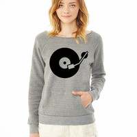 Turntable DJ 5 ladies sweatshirt