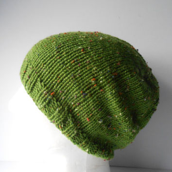 Slouch Beanie Hat. Green slouchy Hat. Patrick's Day. Unisex hat. Slouchy men's cap. Women's slouchy hat. Gift for men. Gift for women.