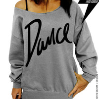 Dance - Gray Slouchy Oversized Sweatshirt