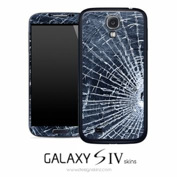 Cracked Glass Skin for the Galaxy S4