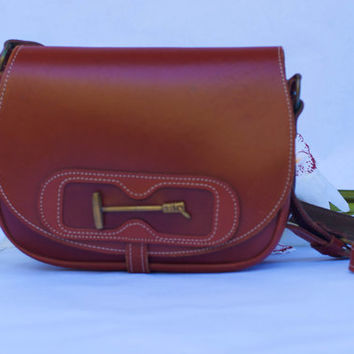 Vintage Genuine Leather Saddle Bag/Satchel Shoulder Bag