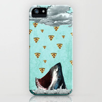 Pizza Shark Print iPhone Case by roxymakesthings | Society6