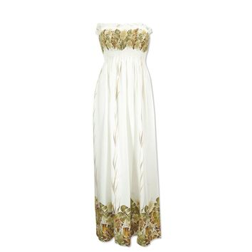 mina cream hawaiian maxi dress