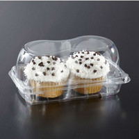 Sabert KP202 2-Count Jumbo Clear Cupcake Container