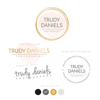 Logo Design, Premade logo, Custom Logo, Photography logo, Business logo, Branding package, Logo photography, Watercolor Logo, Watermark