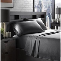 Ella Jayne Home Braun Collection 100% Cotton Soft Flannel Full Sized Bed Sheet Set, Charcoal