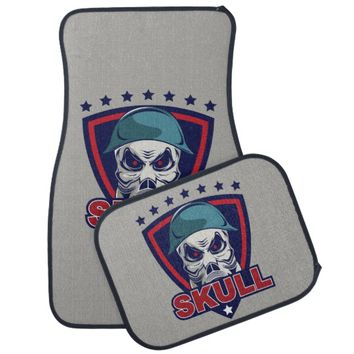 Skull Mask Tattoo Car Floor Mat