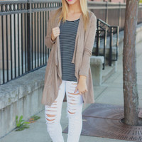 On the Wind Cardigan - Taupe
