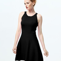 Sleeveless A-Line Mini Skater Dress