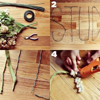 Floral + Wire Words DIY Project - A Beautiful Mess