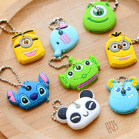Kawaii Cartoon Animal Silicone Key Caps Covers Keys Keychain Case Shell Novelty Item KCS-in Key Chains from Jewelry on Aliexpress.com | Alibaba Group
