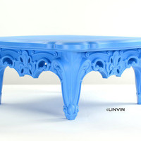 Fabulous and Baroque — Duke of Love Cocktail Table - Ethereal Blue