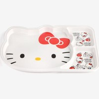 Hello Kitty Divided Melamine Plate: Apple