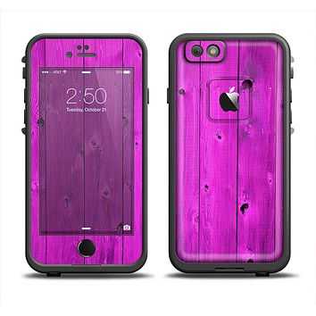 The Purple Highlighted Wooden Planks Apple iPhone 6 LifeProof Fre Case Skin Set