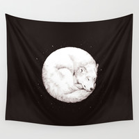 The Howl of the Moon Wall Tapestry by Daniel Teixeira