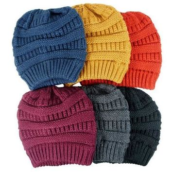 Full Of Color Knitted Beanie