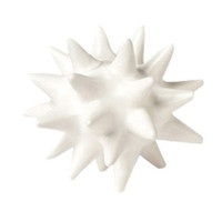 White Urchin Ceramic Objet Sculpture