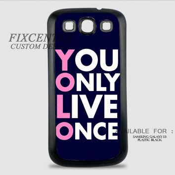YOLO BLACK - Samsung Galaxy S3 Case