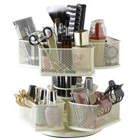 Nifty Cosmetic Organizing Carousel, Cream