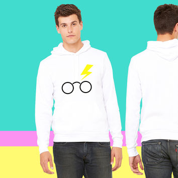 nerdy boy glasses and lightning strike sweatshirt hoodie