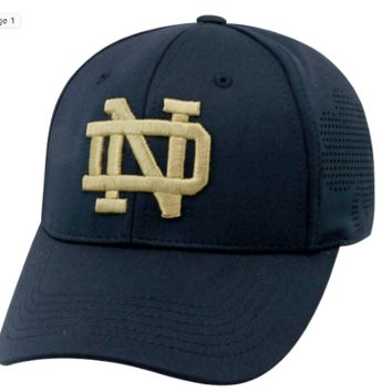 Notre Dame Fighting Irish Top of the World Rails 1Fit Flex Hat -Navy