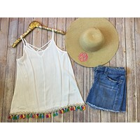 The Summer tank in white