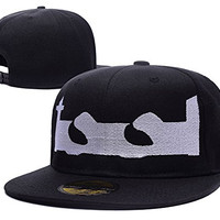 HAIHONG Tool Rock Band Logo Adjustable Snapback Caps Embroidery Hats - Black