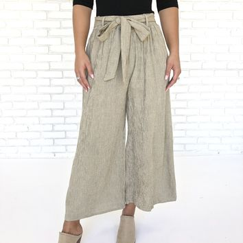 Comfort In Stripes Wide Leg Pants
