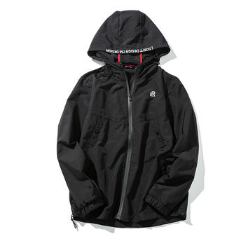 Men's Fashion Boyfriend Waterproof Zippers Hats Jacket [7929486915]
