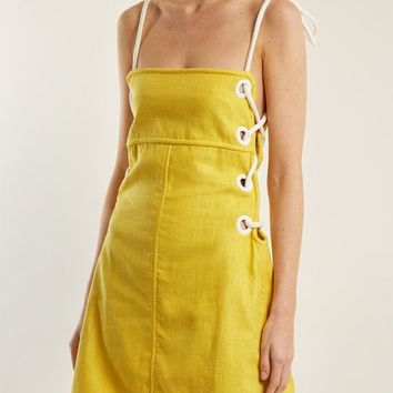 Raft linen-blend mini dress | Staud | MATCHESFASHION.COM US