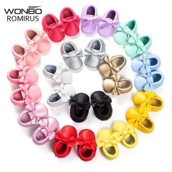 16 Colors Leather Newborn Girls Shoes