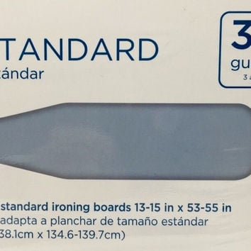 Cover and Pad for Standard Ironing Board fits 13-15 x 53-55 inch Blue Cotton New