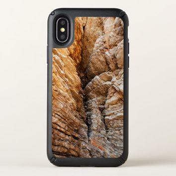 texture of the rock speck iPhone x case