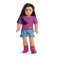 American Girl® Clothing: Sparkly Camp Outfit for Dolls + Charm