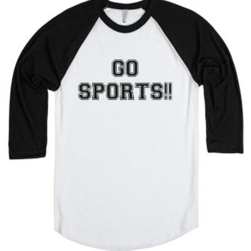 Go Sports-Unisex White/Black T-Shirt