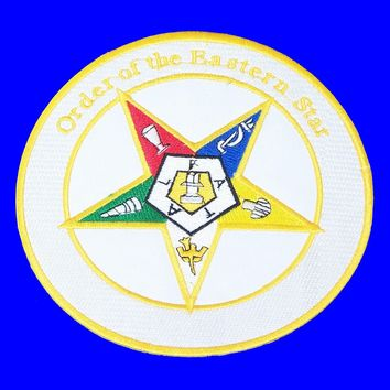 Order of the Eastern Star in Round Small Badge Iron on Patch for Biker Vest SB1067