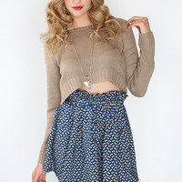 Bridget High Waist Skirt - Navy