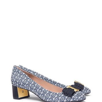 Tory Burch Gemini Link Printed Bow Pump