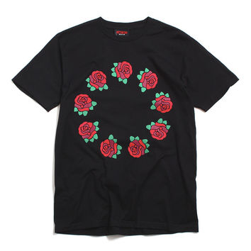 9 Year Roses T-Shirt Black