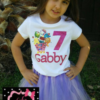 Personalized Shopkins outfit, personalized birthday girl shirt, personalized birthday shirt , Shopkins shirt, Shopkins birthday outfit