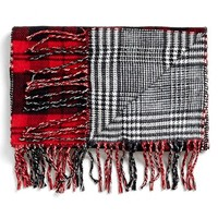 Men's Topman Double Face Woven Scarf - Red