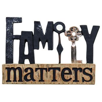 Family Matters Resin Block w/Key