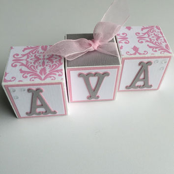Baby Name Blocks - Name Blocks - Baby - Baby Girl - Baby Gift - Newborn - Baby Shower - Nursery - Blocks - Newborn Photography - Photo Prop