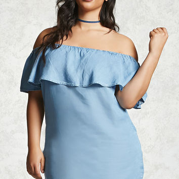 Plus Size Off-the-Shoulder Dress