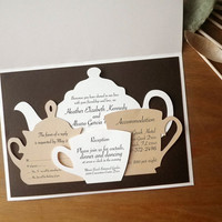 Wedding Invitations Set Tea Time Sample by MamaTita on Etsy