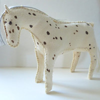 Appaloosa horse doll Native American Indian cowboy cowgirl western spotted sculpture primitive americana folk art country rustic Wild West